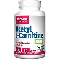 Jarrow Formulas 乙酰左旋肉碱补充剂 提供大脑保护 500 毫克 60 粒胶囊