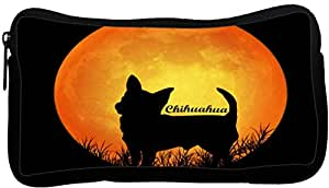 Rikki Knight Chihuahua Dog Silhouette by Moon Neoprene Pencil Case (dky-Neo-pc8473)
