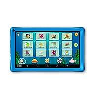 AXXO ST-215B 儿童平板电脑,带父母区域和预装应用程序,用于学习和游戏,蓝色