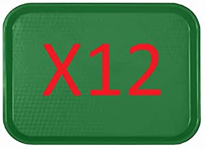 "AmGood Serving 托盘快速食品托盘,混色 - 5 种颜色 14"" X 17 3/4"" - GREEN"