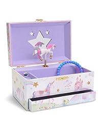 JewelKeeper 矩形珠宝盒抽屉 Glitter Rainbow Unicorn unknown