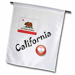 smudgeart 州旗 for THE USA–I LOVE 加利福尼亚–旗帜 12 x 18 inch Garden Flag