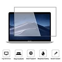 钢化玻璃屏幕保护膜适用于 MacBook Pro 15 英寸(2019 2018 2017 2016 年发布)型号 A1707 A1990,[无波浪][无气泡][减少指纹][防刮][0.15 毫米]