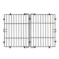 IRIS OHYAMA 爱丽思欧雅玛 系统圆形屋顶 P-STNY-550 磨砂棕 宽87×深57cm
