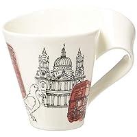 Villeroy & Boch 德國唯寶 Cities of the World 咖啡杯,倫敦,300毫升,高度: 11厘米,高級瓷器,紅色