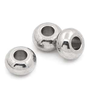 HOUSWEETY 不锈钢银色圆形珠宝饰品 实珠 5mm 1 HOUSWEETYB24899