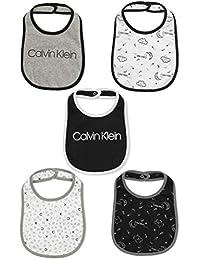 Calvin Klein 婴儿 5 件装围嘴