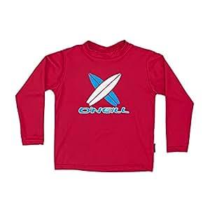 O'neill Toddler Skins L/S Rash Tee Boys 020 Red 2 (Kids) 海外卖家直邮