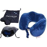 Manifold Home Products *泡沫旅行枕 - 比充气颈枕更佳 - 免费赠品眼罩和耳塞