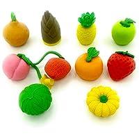HappyKids 出品的香蕉,樱桃,菠萝,草莓(4片/袋×12袋)日本拼图橡皮擦