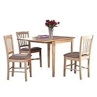 生活诚品 进口实木展翼餐桌椅套装(一桌四椅) SMD10376T+SMD12076C(亚马逊自营商品, 由供应商配送)