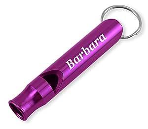 Dimension 9 激光雕刻阳极氧化 Barbara 金属*/Survival 口哨带钥匙链