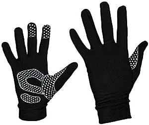 Zimco 自行车穿戴* Roubaix 跑步手套冬季全指保暖手套羊毛手套 S/M 黑色 0