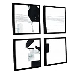"ArtWall 4 Piece Jan Weiss's Falling Floater Framed Canvas Square Set, 48"" x 48"""