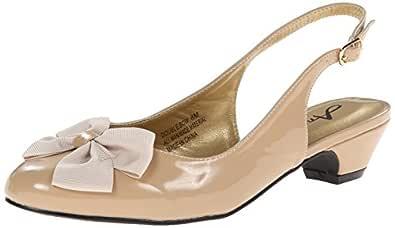 Annie Shoes 女士双蝴蝶结高跟鞋 肤色 8 M US