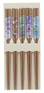 筷子 客用 5P 套装 天然木
