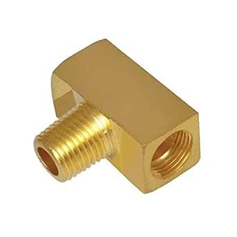 Tompkins 3600-06-06-06 管道配件,管分支 T 恤,3/8-18 x 3/8-18 x 3/8-18,黄铜