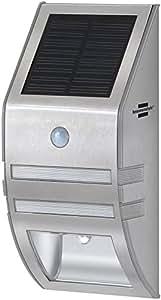 Brennenstuhl 百能斯图 太阳能 LED 壁灯 SOL WL 02007 2xLED 不锈钢 1170780 银白色 9.00  x  18.00  x  6.30 cm