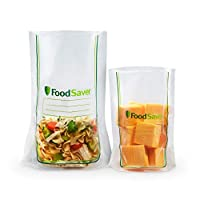 FoodSaver 易装真空封口袋多包   商业级可重复使用   40 个 1 夸脱袋和 20 个 1 加仑的袋