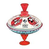 Bolz 52362 迪士尼老鼠小号圆圈 16 厘米 金属圆圈 经典音乐圆圈 带米奇主题的金属圆圈 带支架的玩具陀螺 适用于18个月以上的儿童,彩色
