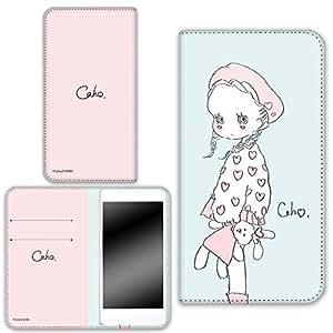 caho 保护套双面印花翻盖毛绒玩具和小女孩手机保护壳翻盖式适用于所有机型  ぬいぐるみと少女E 4_ AQUOS R SH-03J