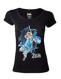The Legend of Zelda Breath of The Wild - 链接与箭头女孩衬衫黑色 XS 黑色 标准