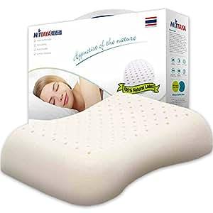 Nittaya妮泰雅泰国商业部推荐 天然乳胶成人枕头透气护肩枕肩型曲线枕