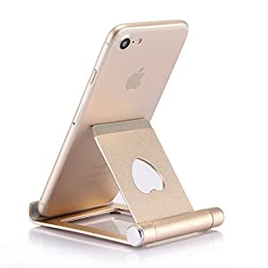 手机支架、支架、支架、支架、开关支架、所有 Android 智能手机、iPhone 6 6s 7 8 X Plus 5 5s 5c 充电,配件桌面 金色