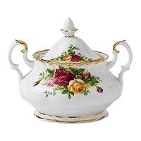 Royal Albert Old Country Roses 現代馬克杯,多色 金色 SUGAR BOWL 798901568407