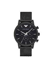 Emporio Armani 运动AR1968 analog 不锈钢 黑色 AR1968 watches
