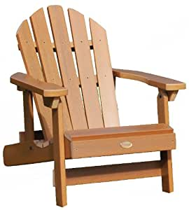 Highwood Hamilton 折叠斜倚阿迪朗达克椅,大号双人床,白色 Kid 棕色 AD-CHS1-TFE