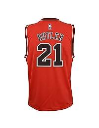Outerstuff Jimmy Butler NBA 芝加哥公牛队官方公路红色球员复制品青少年球衣