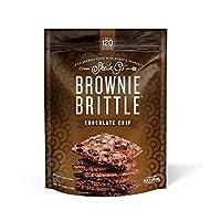Brownie Brittle 巧克力片,5盎司(141.5克)袋装(6袋),非常美味的巧克力布朗尼松脆饼干 (包装可能会有所不同)
