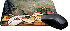 Rikki Knight Paul Cezzane Art Still Life with Drapery Pitcher and Fruit Bowl Design Lightning Series Gaming Mouse Pad (MPSQ-RK-3140)