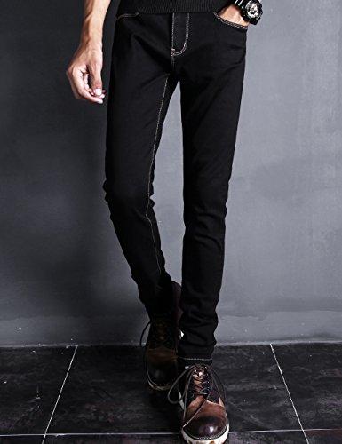 Hooper Homme 秋季黑色牛仔裤男修身韩版小脚裤潮流百搭青年休闲裤男士长裤子
