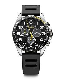 Vivactory Knights 瑞士军表 手表 不锈钢表壳 (316L) 灰色表盘 黑色橡胶表带 241892 男式 正规进口商品 黑色