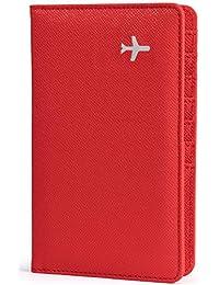 All in One 旅行钱包 - 2 个护照夹 + 礼品盒/现金票据卡笔