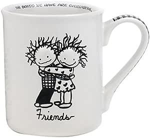 Enesco Children of The Inner Light Boy/Girl Friends Mug, 4.5-inch