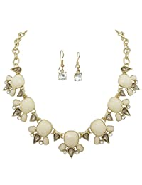 Gypsy Jewels 多形状树脂和水钻精品风格项链和耳环套装 - 各种颜色
