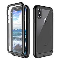 iPhone XS 手机壳,iPhone X 手机壳,Singdo 内置屏幕保护膜 360 度保护防震保护套适用于 iPhone XS/X(5.8 英寸)