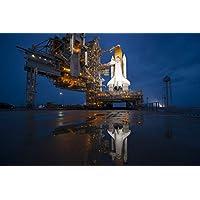 快速订购 NASA 太空飞船发射垫海报课堂办公室家居装饰航天器海报尺寸 60.96x91.44 cm 图像太空船旗墙装饰休斯顿程序星舰
