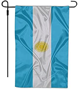 Rikki Knight 阿根廷国旗设计装饰房或花园旗,30.48 x 45.72 厘米,全出血