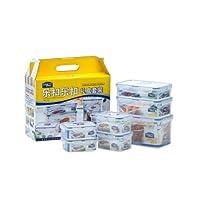 LOCK&LOCK 乐扣乐扣 塑料保鲜盒套装 饭盒 便当盒 收纳盒保鲜盒7件套装HPL818S002(包装随机发货) 透明