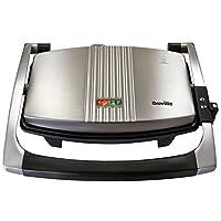 Breville 铂富 VST025 热压三明治/帕尼尼和烤面包机,三层,不锈钢