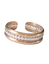 趾环 | 蜜蜂戒指堆叠 .925 纯银和 14K 金填充 | 适合*或中长男女皆宜的可调节戒指
