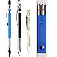 2 支木工铅笔,12 支标记笔替换芯和 1 件硬质合金刮板工具,适用于玻璃/陶瓷/硬化钢材