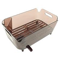 【Amazon.co.jp限定】珍珠金属 餐具 水切 篮子 水切 带口袋 日本制 水蓝色 棕色 HB-3489