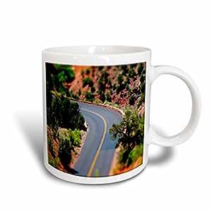 3dRose Winding Road, Zion National Park, Look Like Miniature Road, Greenery, Ceramic Mug, 11-Oz