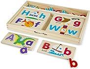 Melissa&Doug ABC字母畫板益智玩具 (含13片雙面木制畫板和52