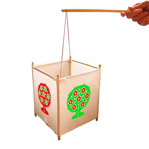 鸡新年diy宫灯笼手工材料包 春节元宵幼儿童自制作兔子鱼猴花灯笼 (树